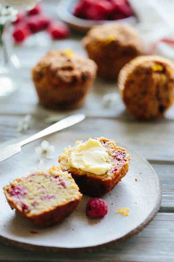 These Paleo Orange Raspberry Crumb Muffins are dairy free, gluten free, grain free and refined sugar free, but taste like a yummy treat! #easy #paleo #muffin #raspberry #orange #crumb #recipe #healthy   ColeyCooks.com