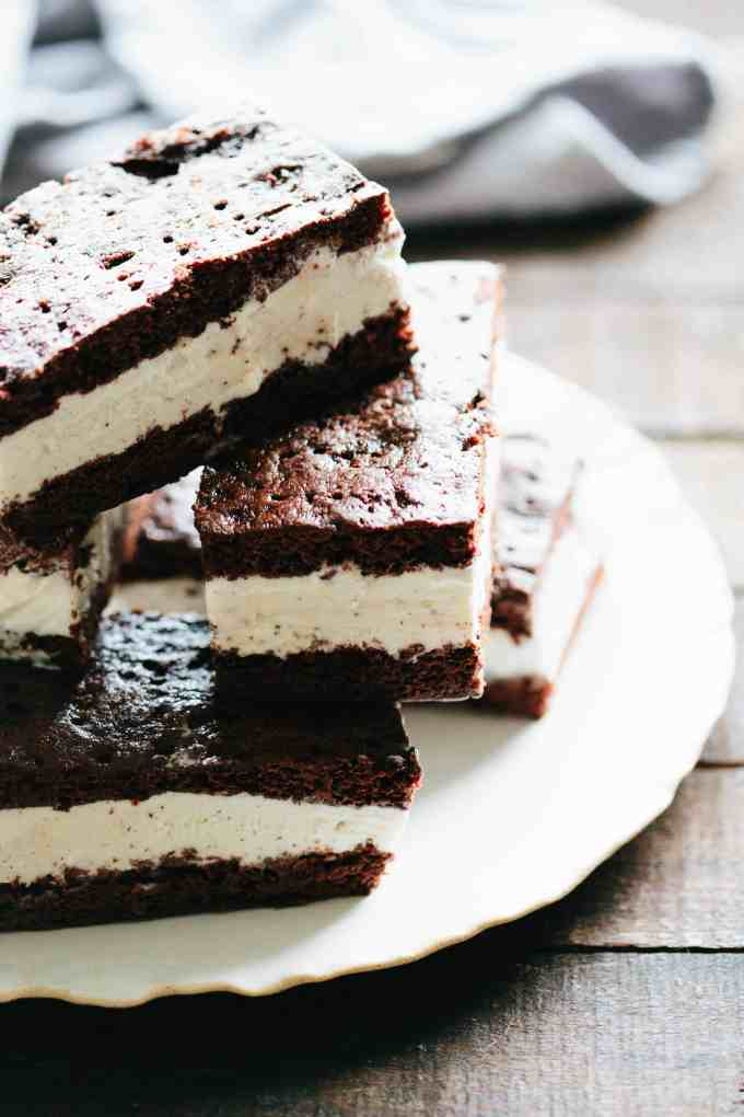 homemade ice cream sandwiches on a plate
