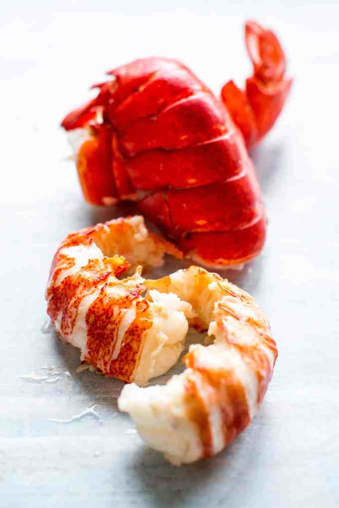lobster tail meat and shells