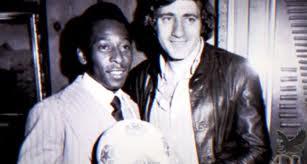 Chinaglia y Pelé fueron compañeros en el Cosmos.