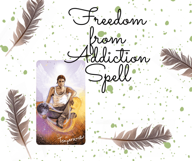 A Spell to Help a Loved One Overcome Addiction Using The Temperance Major Arcana Tarot Card