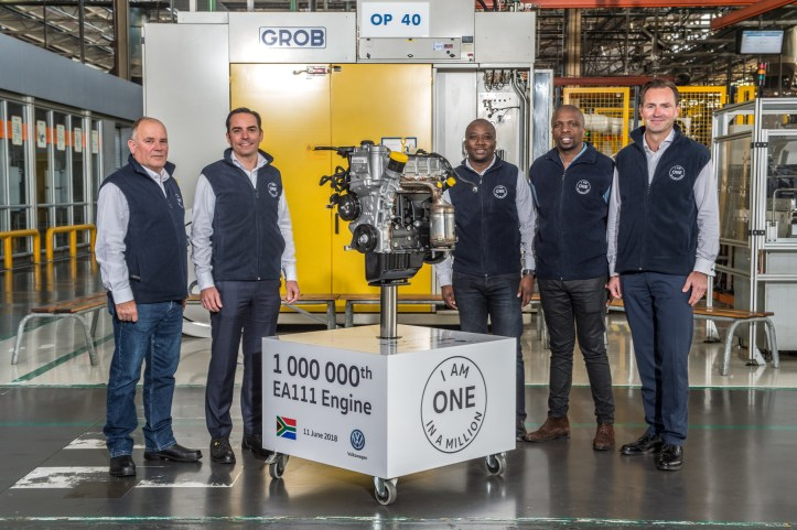 Volkswagen Group South Africa Management and NUMSA members celebrate VWSA's Engine Plant milestone