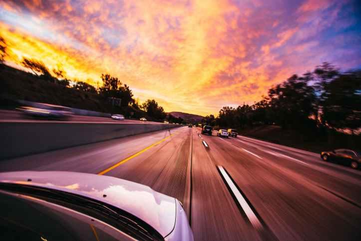cars ahead on road