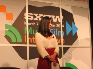 Olivia Munn opening up the event