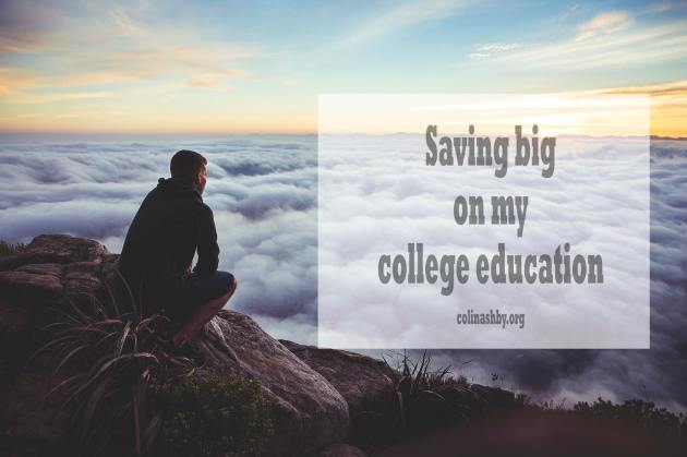 Saving big on college degree
