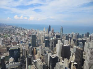 Chicago skyline from the Willis (Sears) Tower skydeck