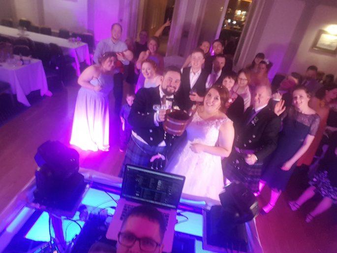Wedding Cog Queens Hotel Dundee Colin Bell Wedding DJ