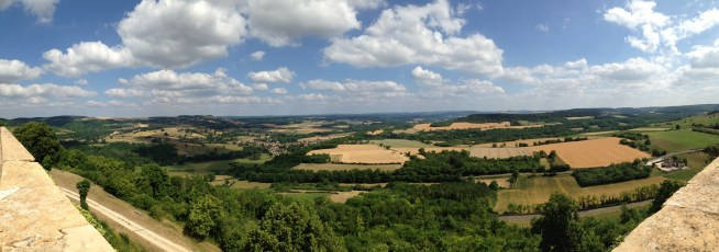 the view from Vezelay