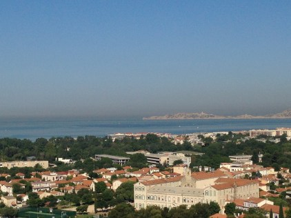 the view from the roof, Cite Radieuse, Marseille