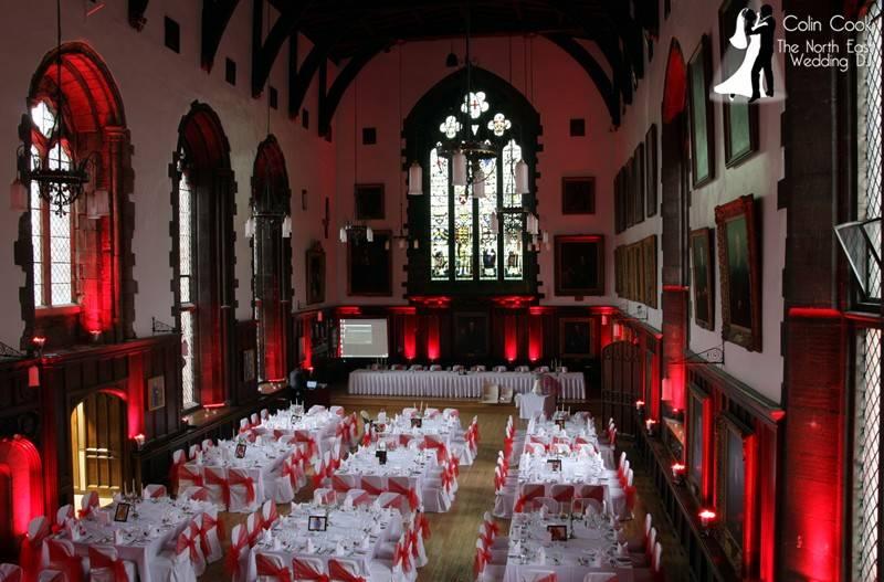 Durham Castle Wedding Lighting 7