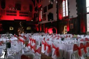 Durham Castle Wedding Moodlighting Decor in the Great Hall