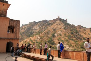 The view from Amber fort to Jaigarh Fort
