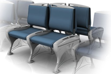 This is the main image to show the Airside airport seating system. It shows 1 set of 4 seats with 2 sets beside it fading out.