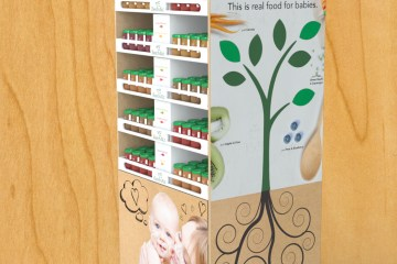 Beech-Nut Baby Food Corrugate Floor Display