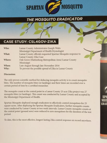 Spartan Mosquito Eradicator Case Study by Joseph Waits and MS State Etymologist