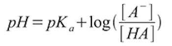 Henderson Hasselbach Equation