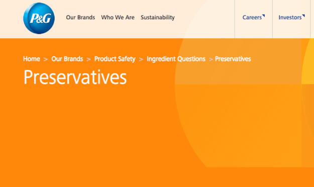 P&G Offers More Clarity On Preservatives