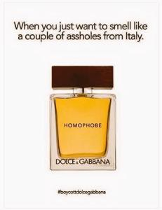 dolce and gabbana homophobic comments