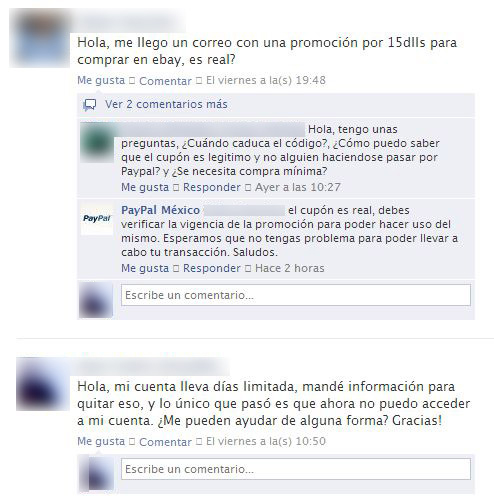 Facebook PayPal Mexico