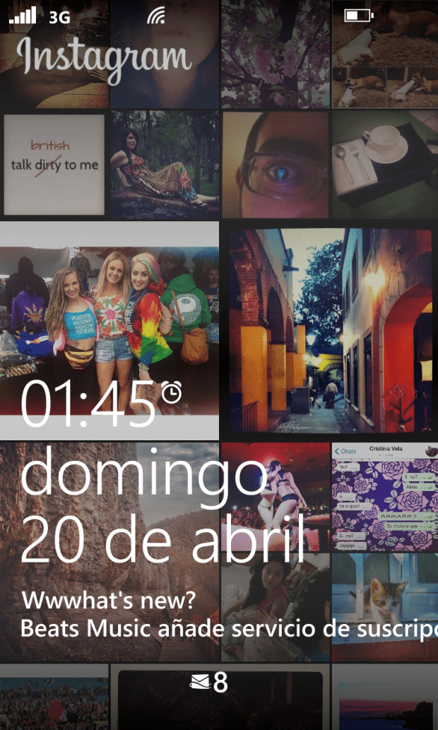 Windows Phone 8 Instagram Lockscreen