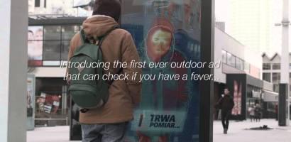 Un anuncio diseñado para avisarte si tienes fiebre