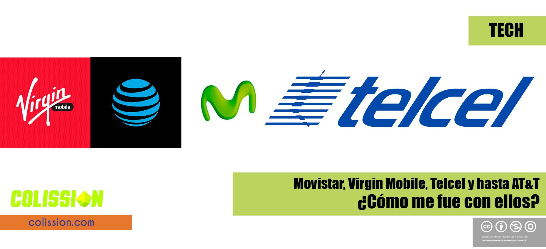 Comparativa Telcel, Virgin Mobile, AT&T y Movistar