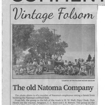 "Photograph Showing Col McKAY's father, C. E. McKAY, with the Gold Dredging Company Natoma in Folsom, California, circa 1937. Col McKAY's letter-to-the editor of ""The Folsom Telegraph"", commenting on the photograph."