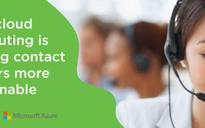 How cloud computing is turning contact centers more sustainable