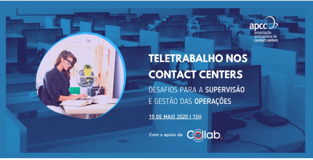 Webinaire teletrabalho nos centres de contact: desafios para a supervisão e gestão