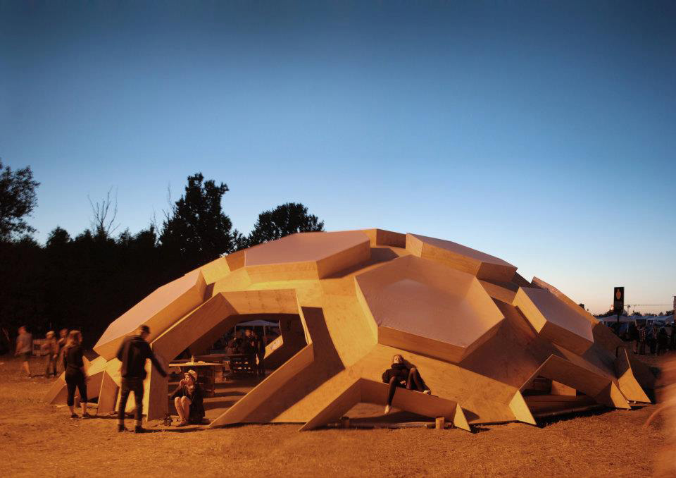 Roskilde Festival Plywood Dome Collabcubed