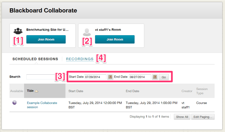 Annotated Collaborate Scheduler