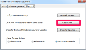 Collaboate Launcher Clear Cache