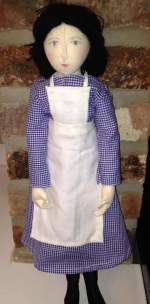 Hannah's Gressenhall workhouse doll - the enactor (depicting an inmate)