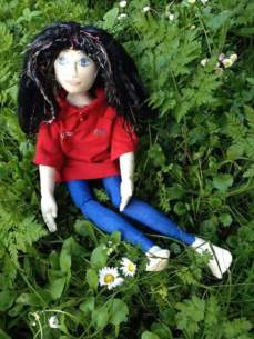 Hannah's 1st Gressenhall Farm and Workhouse doll - a Skills for the Future trainee