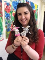 Ellie and her two peg dolls