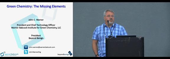 Dr. John Warner presents on Green Chemistry science at the AASHTO TSP2 2015
