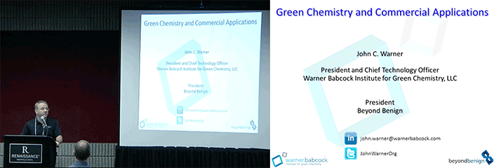 Dr Warner: Green Chemistry