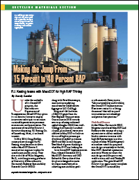 Asphalt Pavement Magazine – May/June 2017: Making the Jump From 15% to 40% RAP