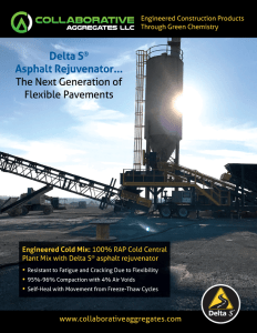Delta S Asphalt Rejuvenator - The Next Generation of Flexible Pavements