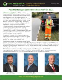 Collaborative Aggregates Pete Montenegro Semi-Retirement Announcement