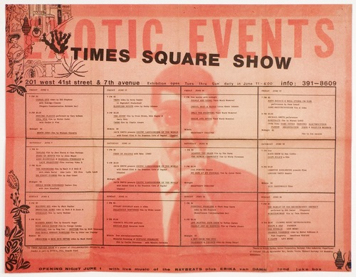 Designed by Beth B and Scott B, Times Square Show Programming Poster, 1980