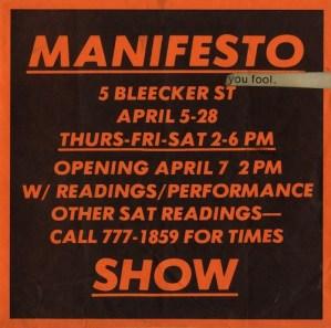 Jenny Holzer, Manifesto Show, 1979