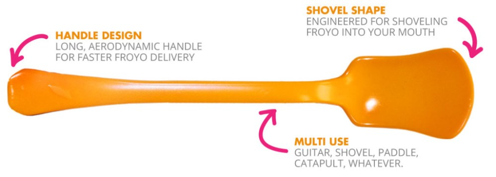 Orange Leaf's spoon is no ordinary utensil.
