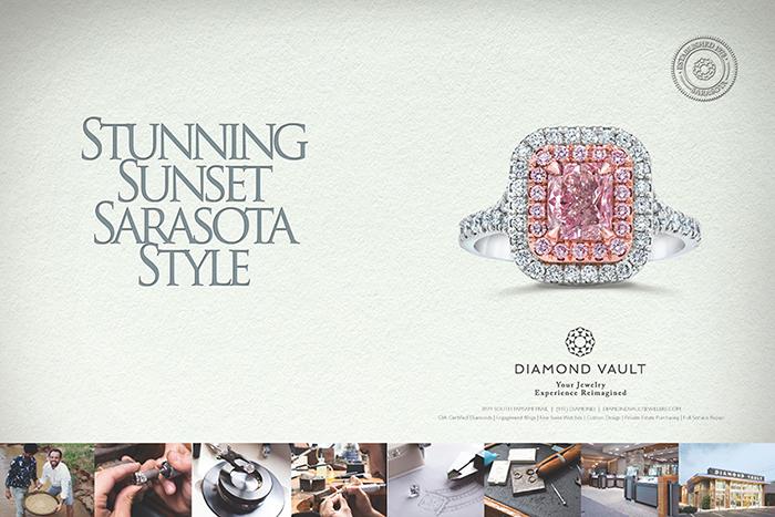 Diamond Vault / Stunning Sunset print ad