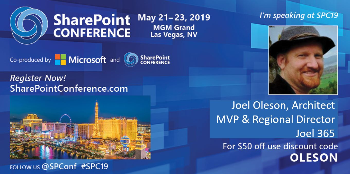 The SharePoint Conference – Microsoft Search in Real Life #SPC19