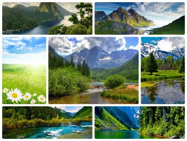 Создать коллаж из фотографий - прекрасная природа ...