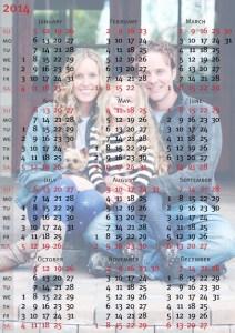 Calendario Familiar 2014.