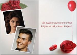 Collages con detalles románticos.