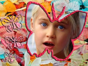 Collages con Forma de Mariposa.