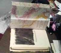 María añadió páginas nuevas (mapa), hueco, objetos y tintas